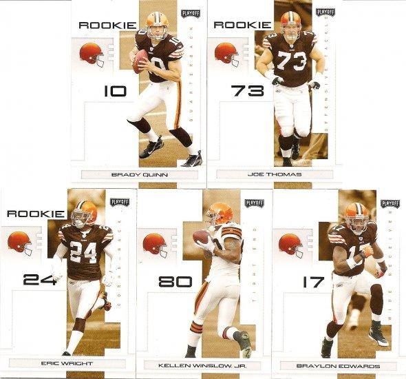 2007 Cleveland Browns NFL Playoffs Team Set