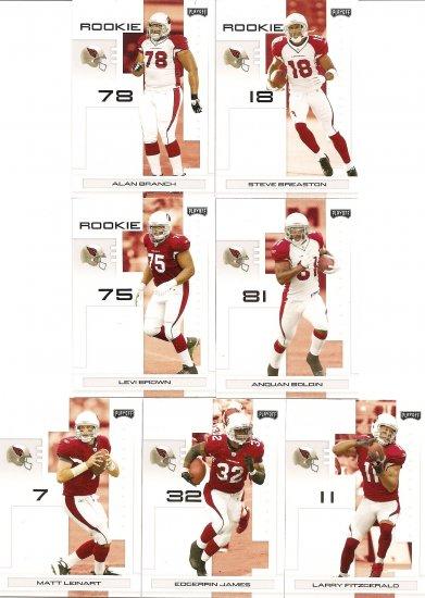 2007 Arizona Cardinals NFL Playoffs Team Set
