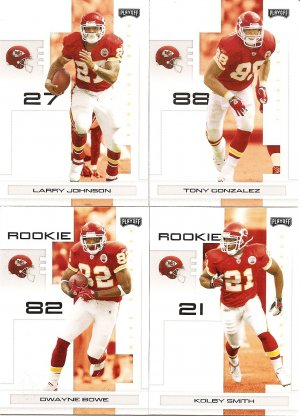 2007 Kansas City Chiefs NFL Playoffs Team Set