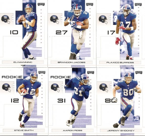 2007 New York Giants NFL Playoffs Team Set
