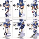 2007 New York Giants NFL Playoffs Team Set