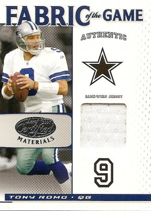 2007 Tony Romo Leaf Cetified Fabric of the Game Used Jersey FOG-98