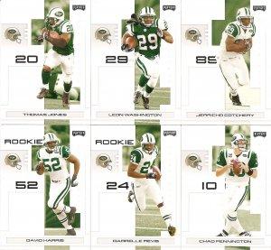 2007 New York Jets NFL Playoffs Team Set