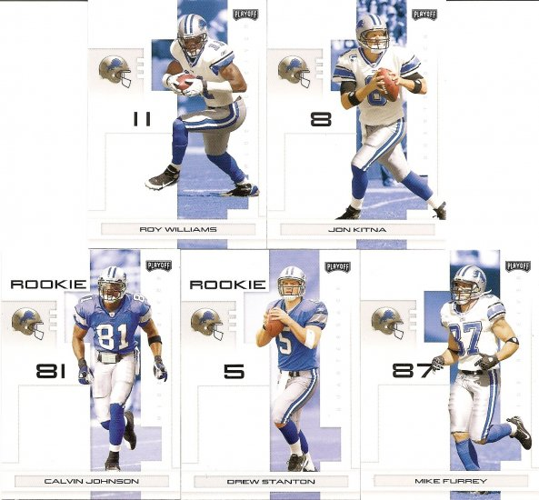 2007 Detroit Lions NFL Playoffs Team Set