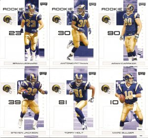 2007 Saint Louis Rams NFL Playoffs Team Set