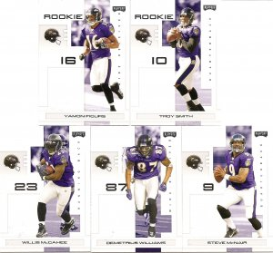 2007 Baltimore Ravens NFL Playoffs Team Set