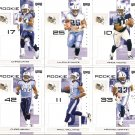 2007 Tennessee Titans NFL Playoffs Team Set
