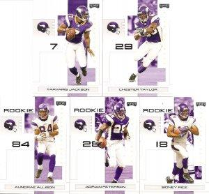 2007 Minnesota Vikings NFL Playoffs Team Set