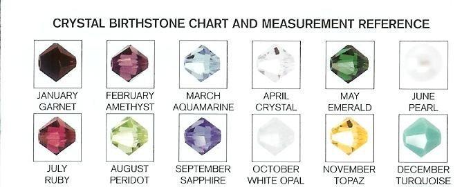 Add a Handcrafted Swarovski Crystal Birthstone Charm P007