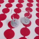XO Love Sterling Silver Dangle Circle Earrings E006