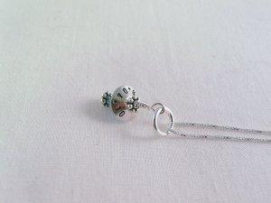 Something Blue Bride Wedding Sterling Silver Bead Cap Swarovski Crystal Birthstone N033