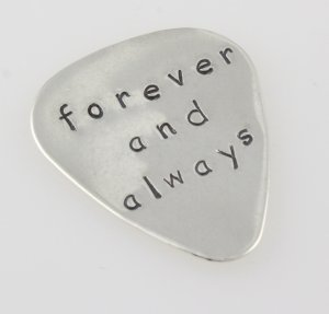 LARGE Sterling Silver Guitar Pick Pic Custom Personalized M009