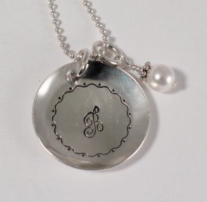 Initial Necklace Custom Personalized Mom Sterling Silver