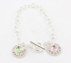 Sterling Silver Hand Stamped Bracelet Personalized B008
