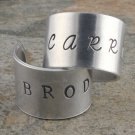 Homeland Custom Rings - Carrie Brody - Hand Stamped Adjustable Rings