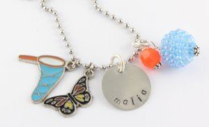 Bug Catcher Charm Necklace - Custom Personalized Silver Necklace