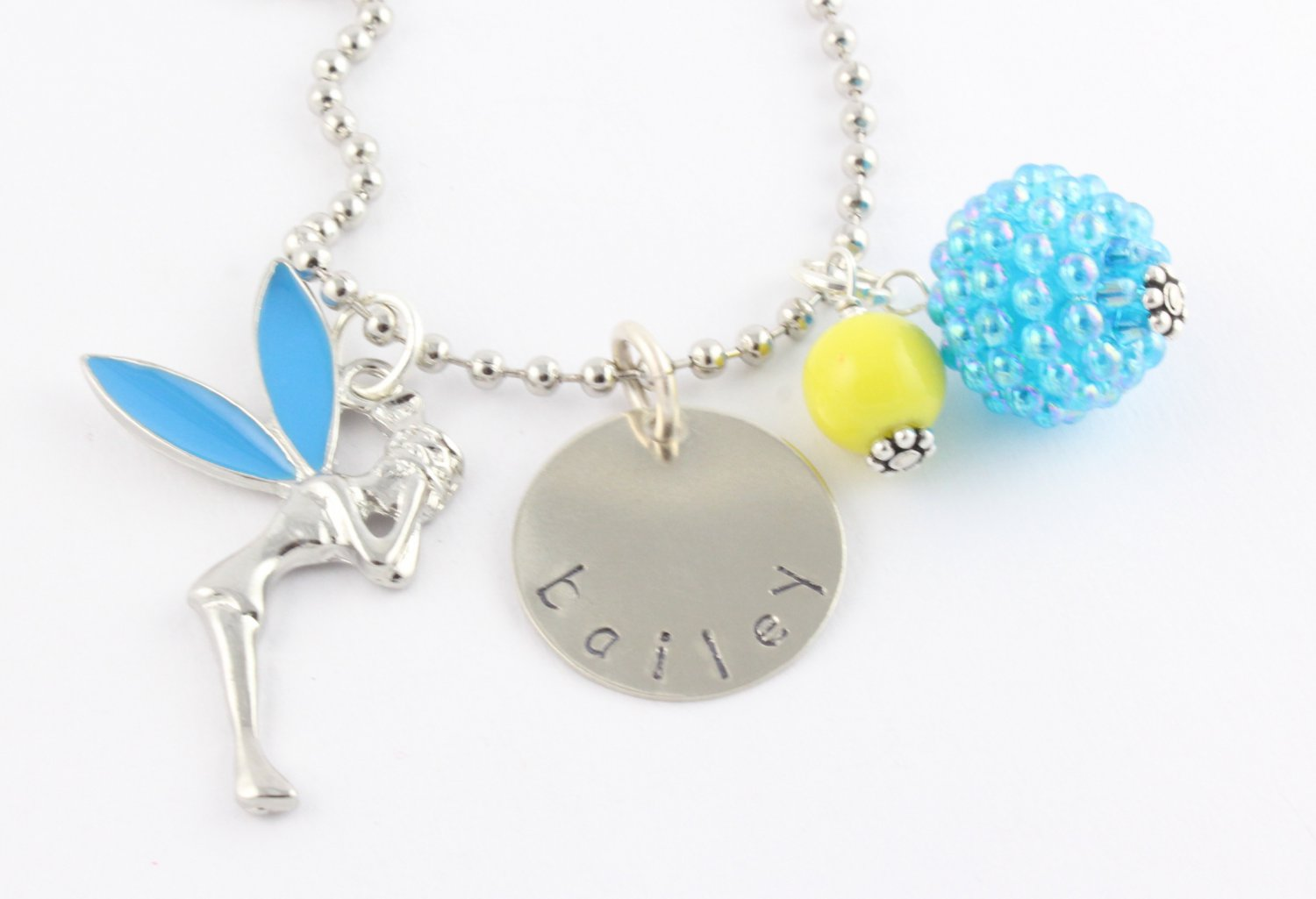 Fairy Charm Necklace Custom Personalized Fairy N022