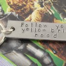 Follow Your Yellow Brick Road Keychain - Wizard of Oz Aluminum Key Chain - Dorothy Keyring