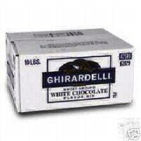 Ghirardelli White Chocolate Sweet Ground Powder 10 lbs