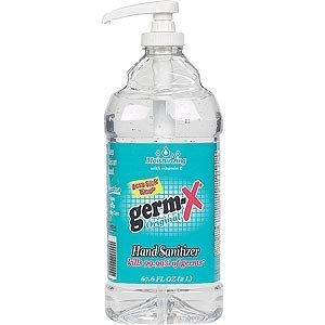 Germ-X Hand Sanitizer Moisturizing with vitamin E - 67.6 oz Pump