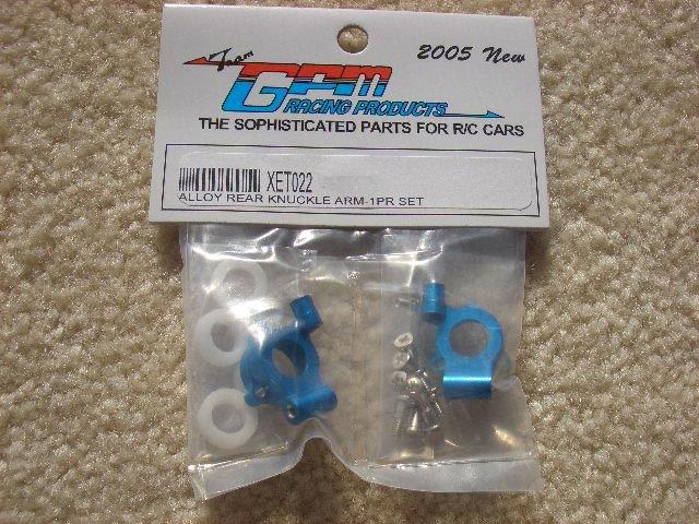 XET022  blue-Alloy rear knuckle arm