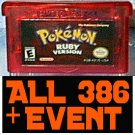 Pokemon: Ruby With 386 Pokemon Shiny + 10th JAA EVENT Rares UNLOCKED