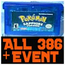 Pokemon: Sapphire With 386 Pokemon Shiny + 10th JAA EVENT Rares UNLOCKED