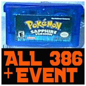 Pokemon: Sapphire With 386 Pokemon Shiny + 10th JAA EVENT Rares UNLOCKED