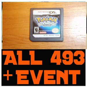 Pokemon Diamond - Preloaded With ALL 493 Pokemon 10th JAA EVENT MEW Deoxys + Arceus + UNLOCKED