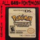 Pokemon White Loaded With All 649 + 40 RARE Legit Event UNLOCKED