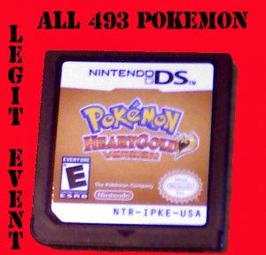 Pokemon HeartGold LOADED with all 493 Shiny + Events UNLOCKED Celebi 3 Beasts