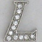 L Letter Initial Sterling Silver Pendant Necklace