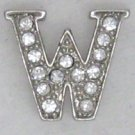 W Letter Initial Sterling Silver Pendant Necklace