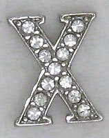 X Letter Initial Sterling Silver Pendant Necklace