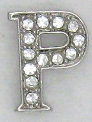 P Letter Initial Sterling Silver Pendant Necklace