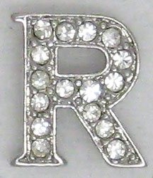 R Letter Initial Sterling Silver Pendant Necklace