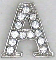 A Letter Initial Sterling Silver Pendant Necklace