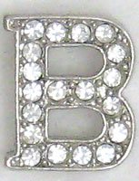 B Letter Initial Sterling Silver Pendant Necklace