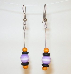 160(Inventory#) Purple stones earrings