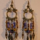 113(Inventory#)  Fashion long dangling earrings