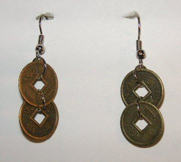 157(Inventory#) Chinese coins earrings