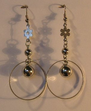155(Inventory#) Fashion silver hoop earrings