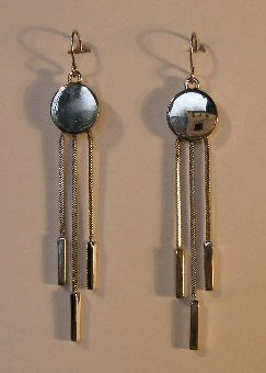 151(Inventory#) Fashion long dangling silver earrings