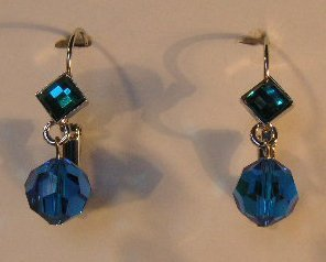 150(Inventory#) Blue stones earrings