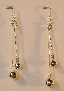 138(Inventory#) Custom design earrings 100% silver