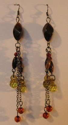115(Inventory#) Multiple color beads earrings