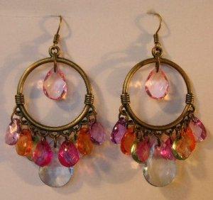 117(Inventory#) Cystal like beads earrings