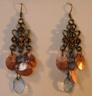 125(Inventory#) Multiple color beads earrings