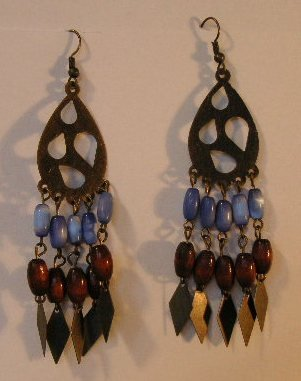 123(Inventory#) Fashion long dangling earrings