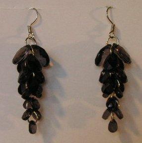 119(Inventory#) Cystal black earrings